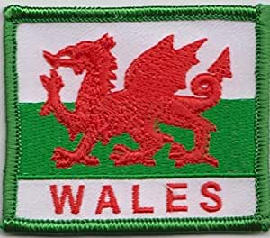 Gales dragón Galesa bordadas Badge (a452) bandera