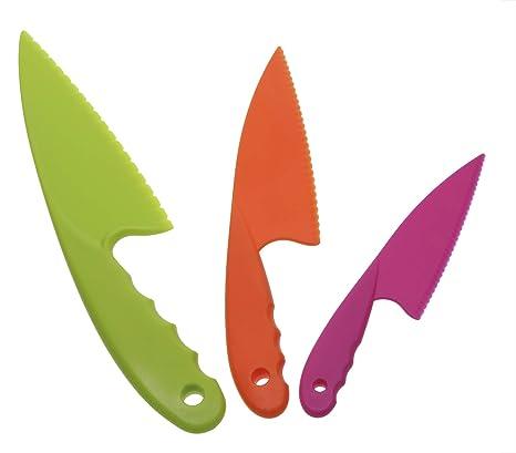 Penta Angel - Juego de 3 cuchillos de cocina de plástico de ...