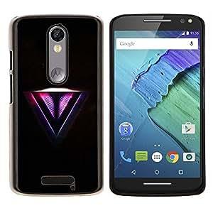 "For Motorola Droid Turbo 2 / Moto X Force , S-type Neon V"" - Arte & diseño plástico duro Fundas Cover Cubre Hard Case Cover"