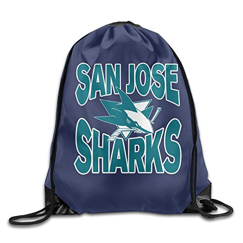 AK79 Personalized San Jose Hockey Sharks Cinch Pack White (Halloween Costume Stores San Jose)