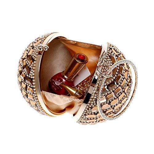 Sera Da Con E Mindruer 5cm Champagne In Diameter12 Borsa Pochette colore Strass Black Diamanti Frizione Dimensione Della HF4qXf