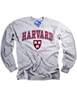 Harvard Shirt T-Shirt Long Sleeve College University Crimson Crew NCAA Officially Licensed Collegiate Product Gray