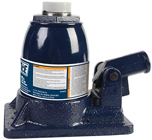 (TCE Professional Grade Hydraulic Stubby Bottle Jack, 12 Ton Capacity)