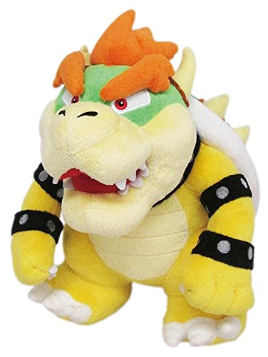 (Little Buddy Super Mario All Star Collection 1423 Bowser Stuffed Plush, 10