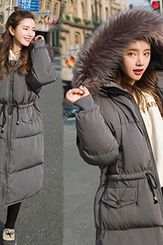 Generic Winter new Korean thick and long sections Nagymaros collar hooded knee bread waist cotton dress female winter jacket tide for women girl