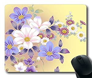 Design Mouse Pad Desktop Laptop Mousepads Beautiful Flowers Comfortable Office Mouse Pad Mat Cute Gaming Mouse Pad