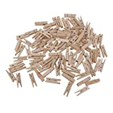 Pack of 100 Mini Wooden Photo Paper Peg Pin Clothespin Craft Clips Wedding Embellishment