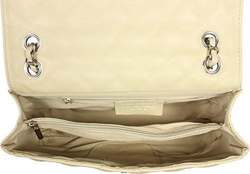 Schöne praktische Leder Lederhandtasche aus Italien über die Schulter