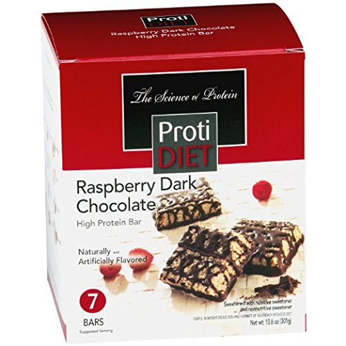 ProtiDIET Delicious Protein Bar | Nutritious Low Fat & Carb Snack With High Vitamins & Minerals | | Healthy & Energizing Small Meal | Assists In Weight Loss (Raspberry Dark Chocolate)