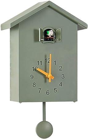 Cz Zc Coucou Horloge Murale Horlogerie Maison En Bois Style Simple Design Moderne Vert Amazon Fr Cuisine Maison