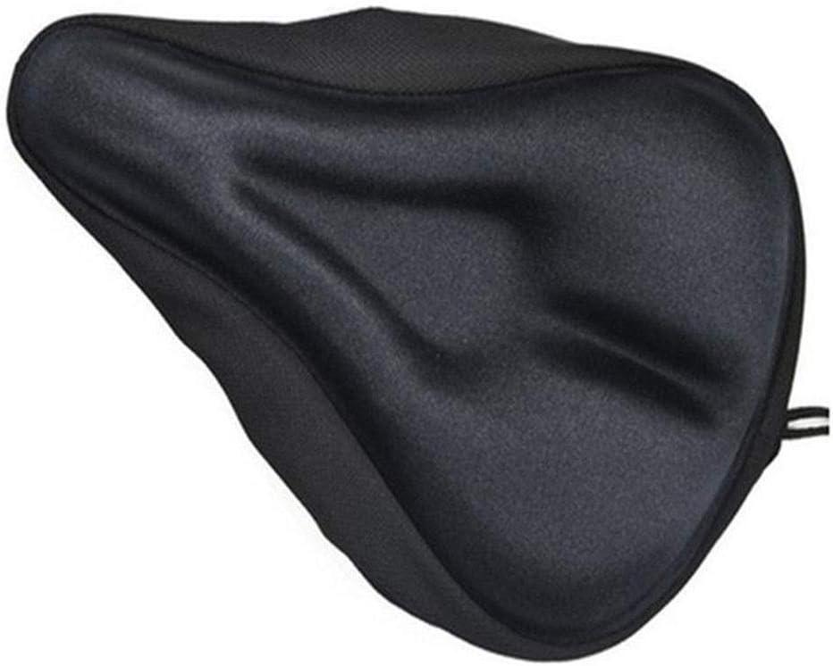 Fuerte y duradero Fundas de sillín de bicicleta de gel Funda de asiento de bicicleta: la más cómoda y suave Construcción de gel Cojín acolchado Funda de sillín para mujeres y hombres Adecuado para bic