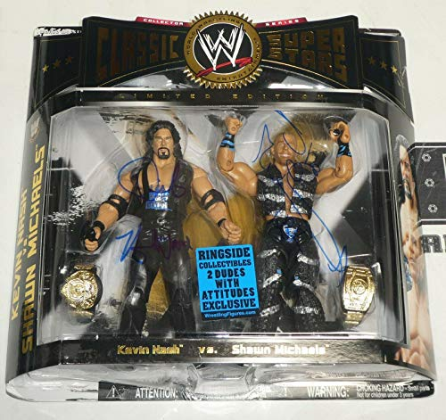 Shawn Michaels & Kevin Nash Diesel Signed WWE Classic Action Figure COA - PSA/DNA Certified - Autographed Wrestling Cards