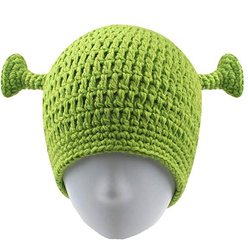 UnionPower Shrek Hats, Keep Warm in Winter, Adult Cosplay Prop Halloween Cosplay, Green Beanie Hat Gifts