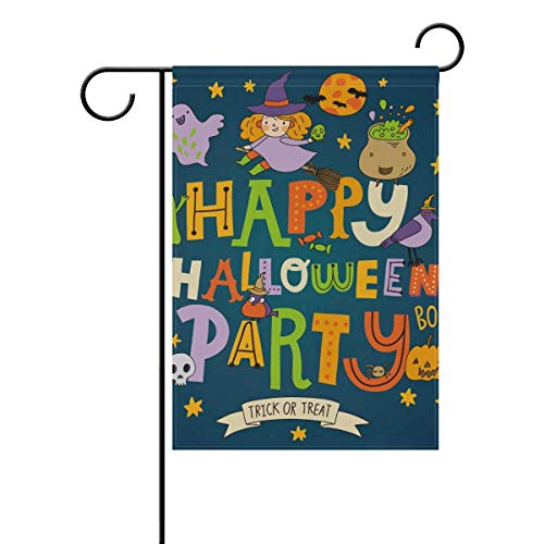frorezxc Home Indoor Outdoor Garden Yard FlagHappy Halloween Party 12 x 18 inches Family Party Match Flag Yard House Banner Outdoor Decor ()