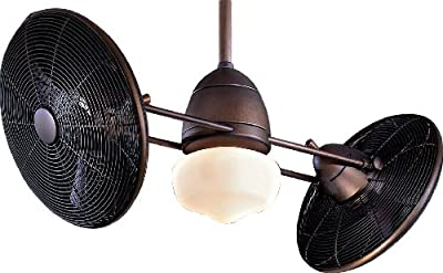"Minka-Aire F402-ORB, Gyro Wet Oil-Bronze Dual 42"" Outdoor Ceiling Fan with Light & Control"