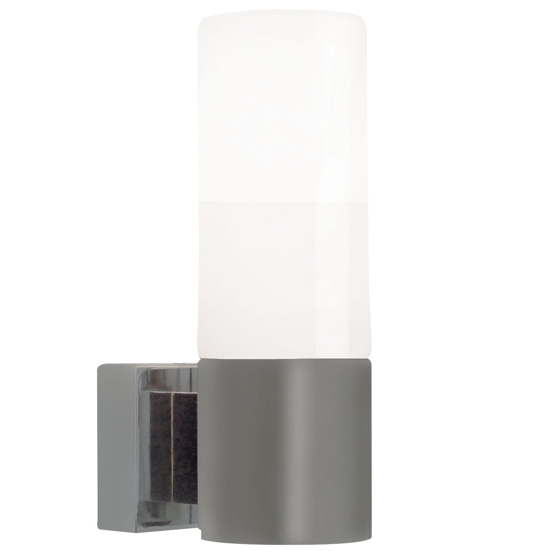 Nordlux 17131032 - Lampada da parete Tangens 40 W, IP44, acciaio spazzolato [Classe di efficienza energetica A] Gautzsch