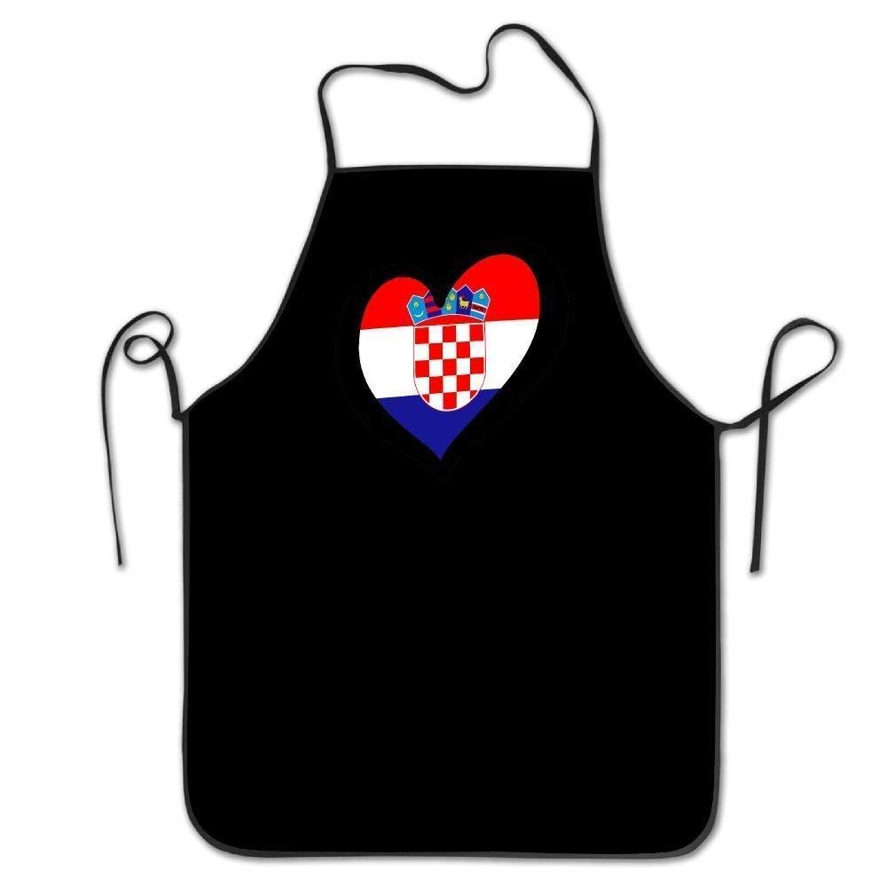 LarissaHi Corazón Bandera De Croacia Mujeres Hombres Cocina Babero ...
