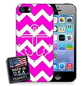 Colorful Hot Pink Chevron Anchor iPhone 5/5s Hard Case