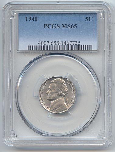 1940 Jefferson Nickel (1940 Jefferson Nickel MS-65 PCGS)