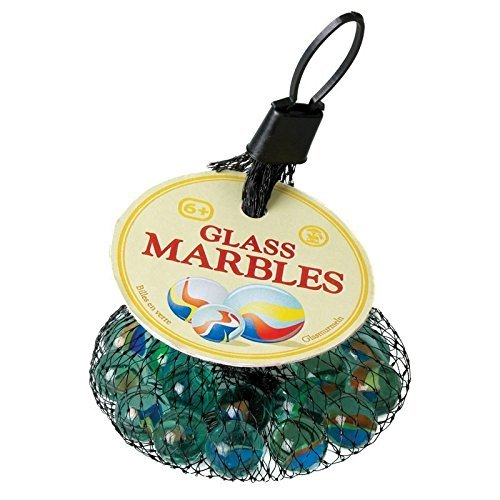 """Glass Marbles - set containing approx 1 Large & 18 Small """"Cat's Eye"""" Marbles Tobar 5038728000410 Games Traditional Games"""