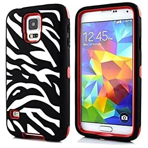 ZCL Zebra PC Silicone Case for Samsung Galaxy S5 I9600 , Green