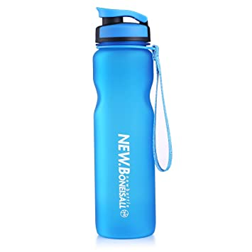 oneisall gybl057 Portable plástico deportes botella de agua con tapa colador de alimentos grado PP y a