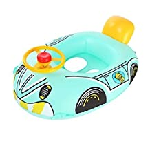 ZeroShop(TM) Baby Swim Float - Swim Safe Baby Car-Shaped Float Boat Swimming Ring Pool Bath Float (Valued 1 Foot Pump Included) Color & Style may Vary