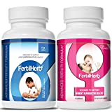 FertilHerb Combo - 1 Month Supply of FertilHerb Fertility Supplement for Women and Men