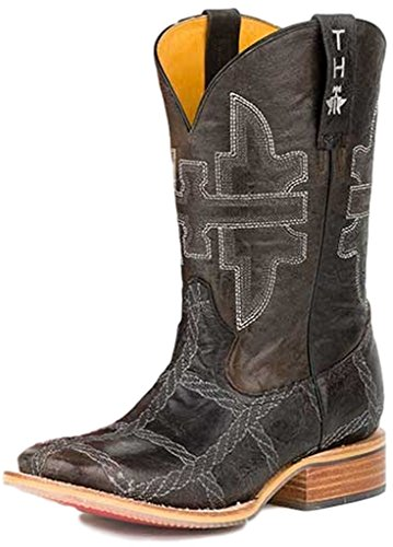 Tenn Distanser Skor Mens Rep Bränna Western Boot Brown
