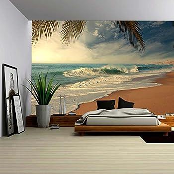 Tropical Ocean Peel Stick Canvas Wall Mural 10 12 Feet Wide x 8
