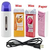 Depilatory Wax Roll - iMeshbean® All in One Wax Warmer Professional Depilatory Heater Salon Hair Removal Kit with Free Depilatory Wax & Paper