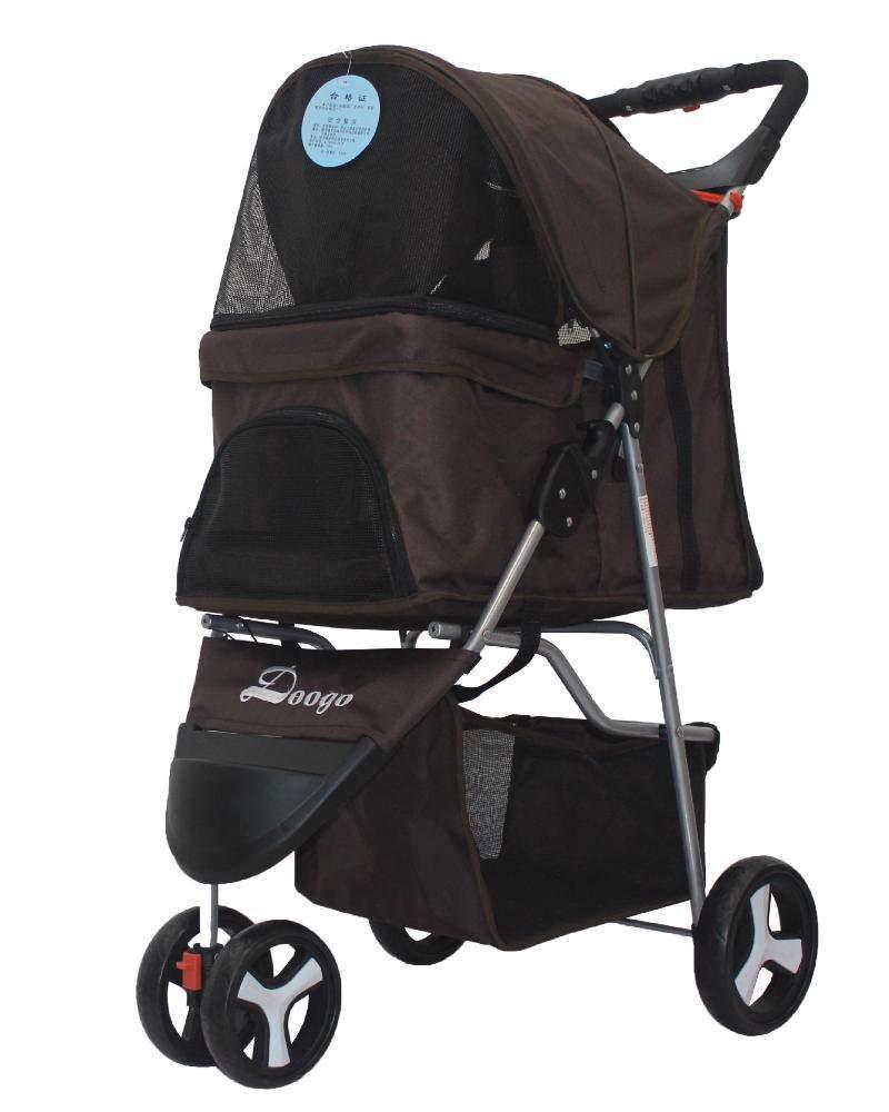 B Lozse Pet Stroller Dog Pushchair Lightweight folding Trolley tricycle Oxford fabric small baby car