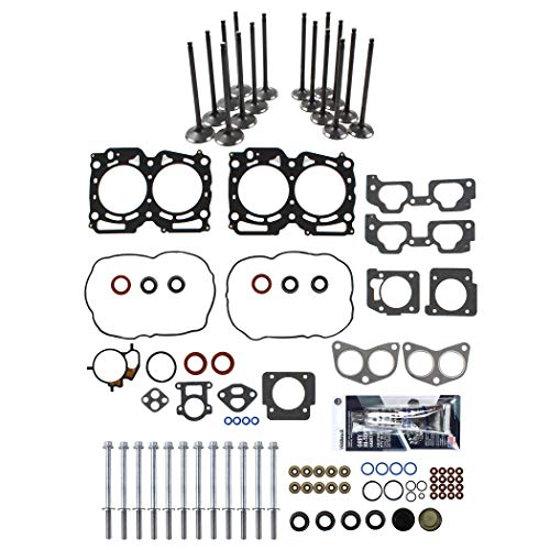 New MLS Head Gasket Set, Head Bolt Kit, Intake & Exhaust Envine Valves ()