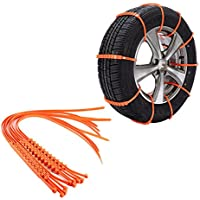 Rurah 10 PCS Tire Chains Portable Tire Chain Emergency Traction Anti-slip Anti-skid Winter Driving Chain Vehicle for Passenger Cars