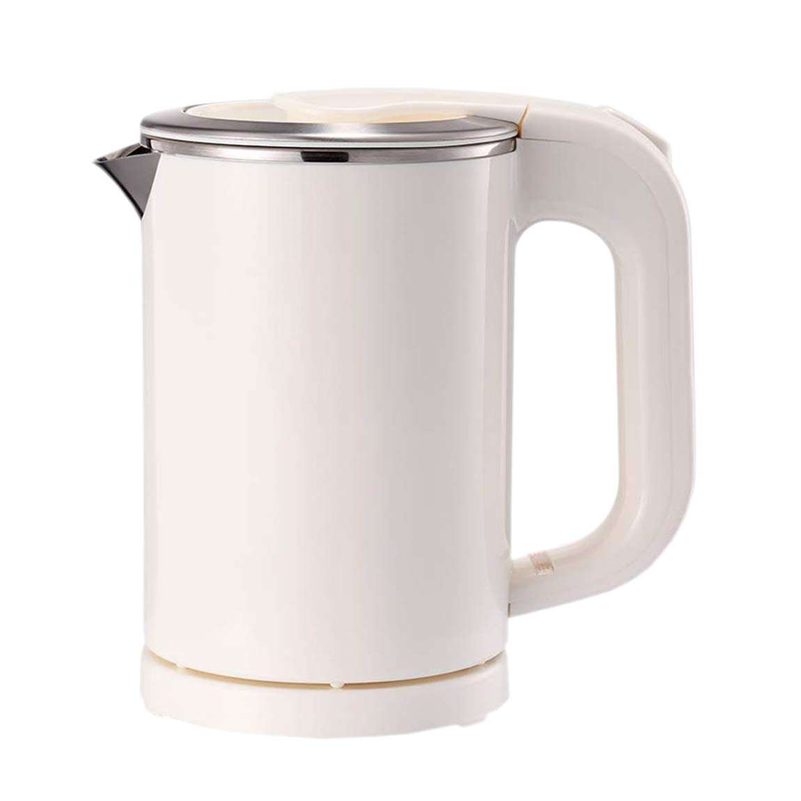 EAMATE 0.5L Portable Travel Electric Kettle Suitable For Traveling Cooking, Boiling (White)