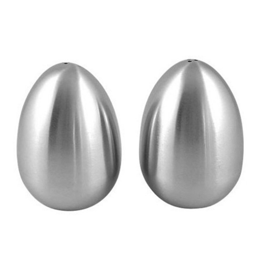 1/ de Holed//3/ de Holed Stainless Steel Egg Shaped Salt Pepper Shaker Kitchen Tool New sint/ética de cocina