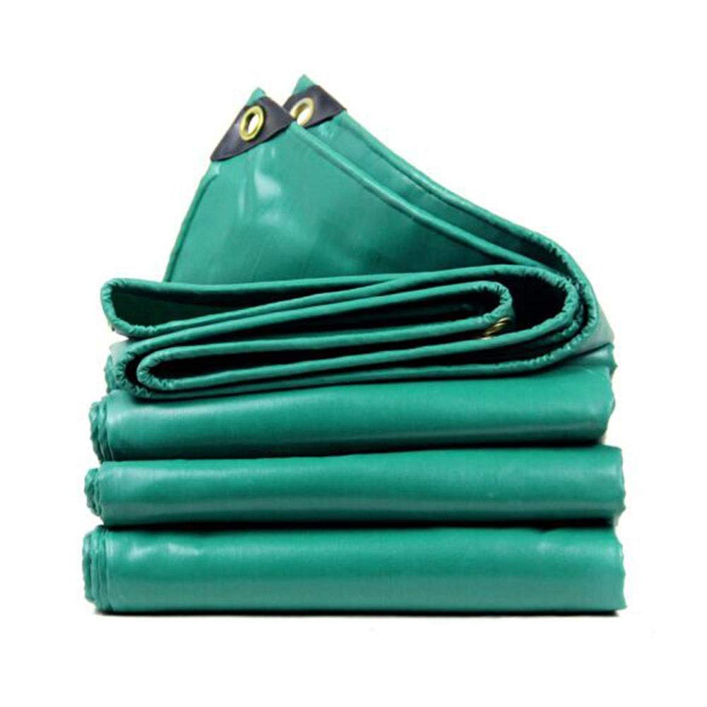 CJC Voiles d'ombrage Imperméable BÂche à Toute épreuve BÂches Feuille De Terre Couvertures pour Mobilier De Jardin Voitures Clapier Trampoline (Couleur   vert, Taille   7x5m) vert 7x5m