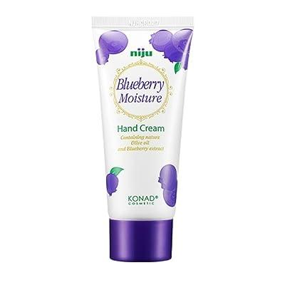 Konad Niju Humedad Crema de manos–Blueberry–[1x 60ml] con natural aceite de oliva y extracto de arándanos