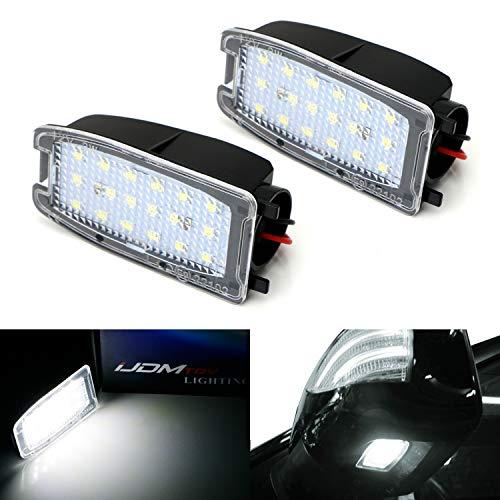 iJDMTOY White LED Under Side Mirror Puddle Lights For Land Rover Range Rover, Range Rover Sport, LR2 LR3 LR4, (Powered by 18 pcs White SMD LED Lights) (Landrover Side Mirror Lr3)
