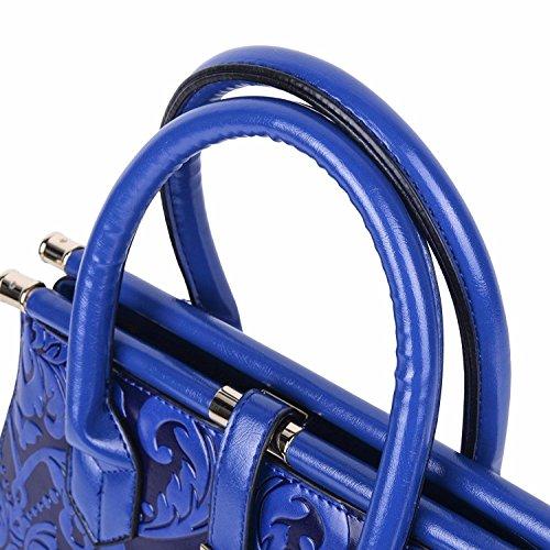 Bandoulière bleu Supérieure Sac Femme Style MSZYZ Mode Poignée Chinois à Élégant SqfU6zx