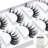 ICYCHEER 3D Mink luxurious False Eyelashes Hand-made Natural Long Cross False Lashes Hanmade Fake Eye Lashes Set Extension