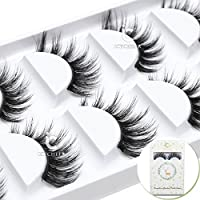 ICYCHEER 3D Mink luxurious False Eyelashes Hand-made Natural Long Cross False Lashes Hanmade Fake Eye Lashes Set Extension