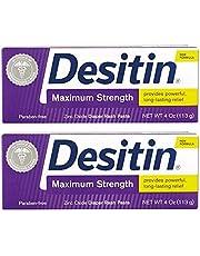 Desitin Zinc Oxide Diaper Rash Paste Tube 4 Ounce (Pack Of 2)