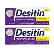 DESITIN Maximum Strength Diaper Rash Paste 4 oz (Pack of 2)