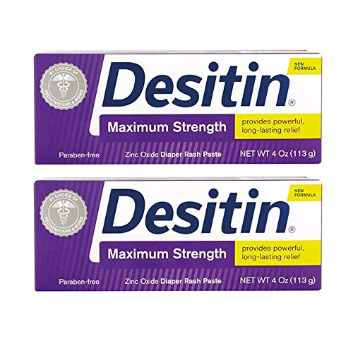 Desitin Diaper Rash Maximum Strength Paste 4 oz (113 g) (Pack of 2)