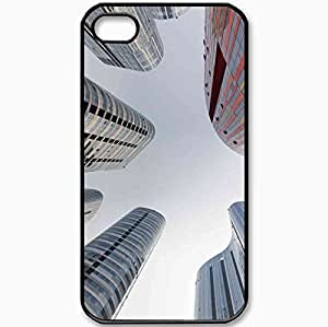 Protective Case Back Cover For iPhone 4 4S Case Sky Home Up Black