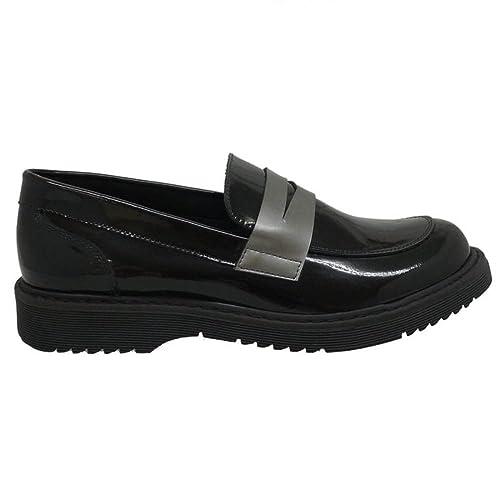 CLARYS Zapatos Niña Mocasines Naúticos 5691 Negro Plata 37: Amazon.es: Zapatos y complementos