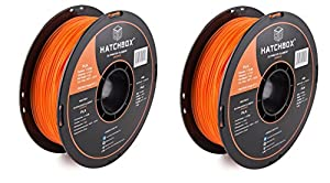 HATCHBOX PLA 3D Printer Filament, Dimensional Accuracy +/- 0.03 mm, 1 kg Spool, 1.75 mm, Orange by HATCHBOX