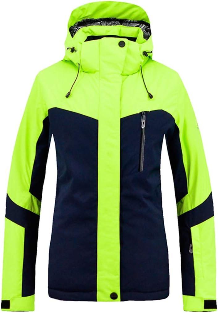 Dingfei 女性のマウンテンスキージャケット防風レインコートウォームウィンター防水スキースーツ (Color : オレンジ, サイズ : M) オレンジ Medium