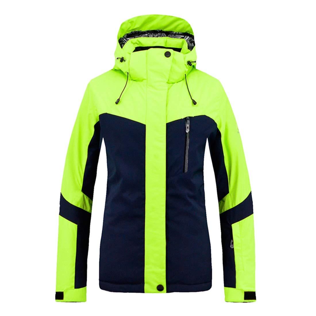 Dhrfyktu Frauen Berg Ski Jacke wasserdicht Winddicht warme Winter Regenmantel